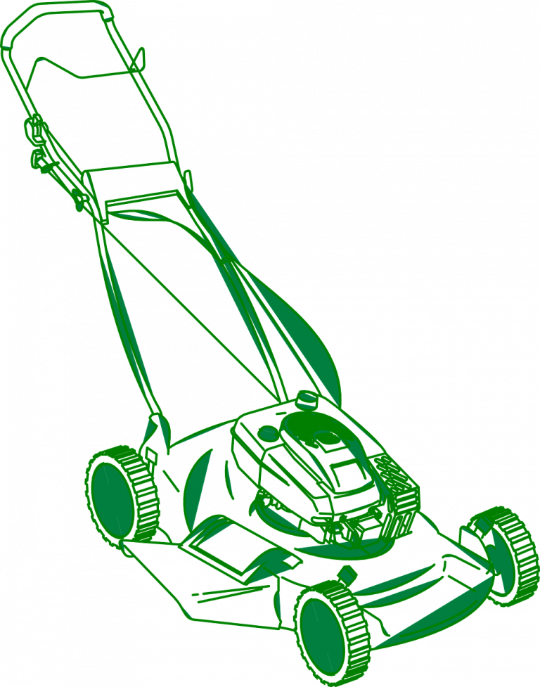 lawn mower, grass, cut